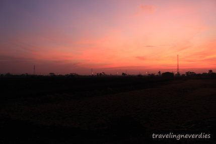 Morning sunrise from my train, Kertajaya