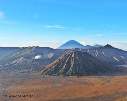 The great Bromo, Batok, and Semeru.