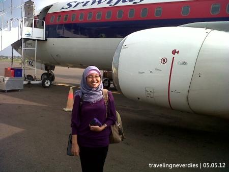 Mendarat di Bandara Sultan Thaha - Jambi