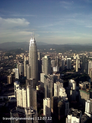 The beauty Twins Tower from the beauty KL Tower