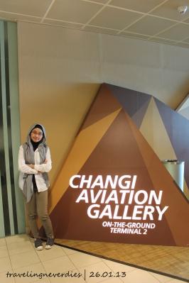 Setelah terlepas dari penguntit, kita mampir dulu ke Changi Aviation Gallery.
