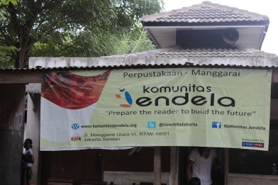 Penampakan basecamp Komunitas Jendela Manggarai