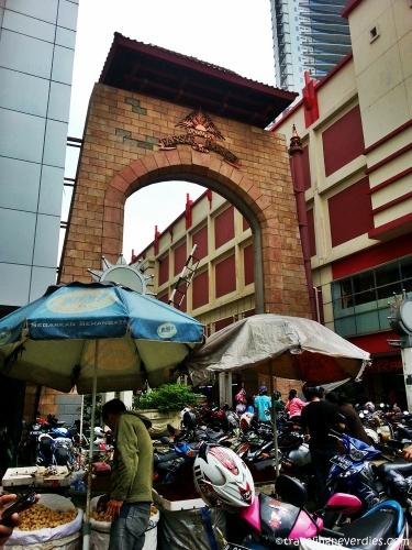 Pintu utara jalan Pasar Baru