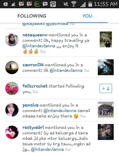 Tanggapan di instagram :(